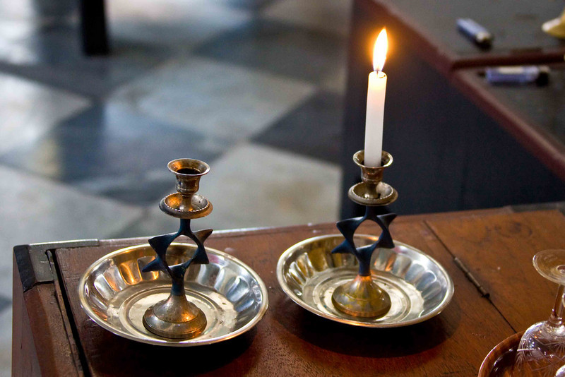 Candles in Myanmar's Only Synagogue