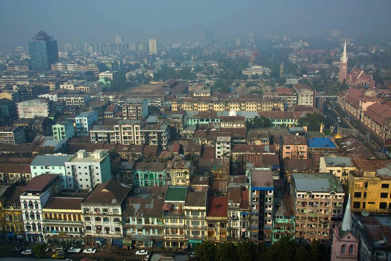 Old Yangon at Dawn