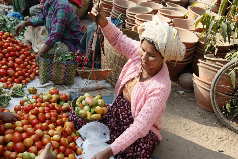 Daily Market-Weighing Tomatoes