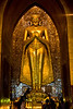 Inside Anana Maha, One of Four Gold-leafed Bronze Buddha Statues. See the next two photos for a real curiosity.