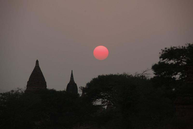 Sundown from Bagan Road