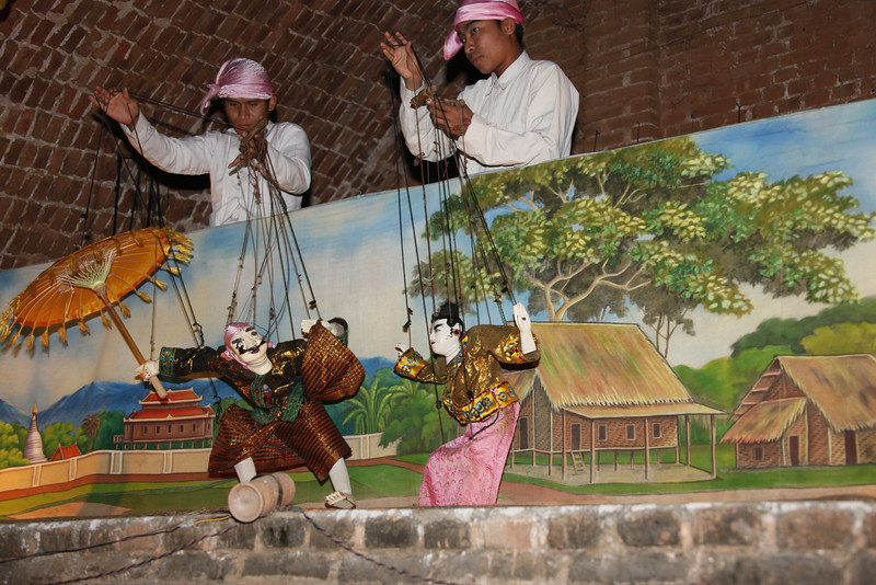Marionette Show. Two Puppeteers.