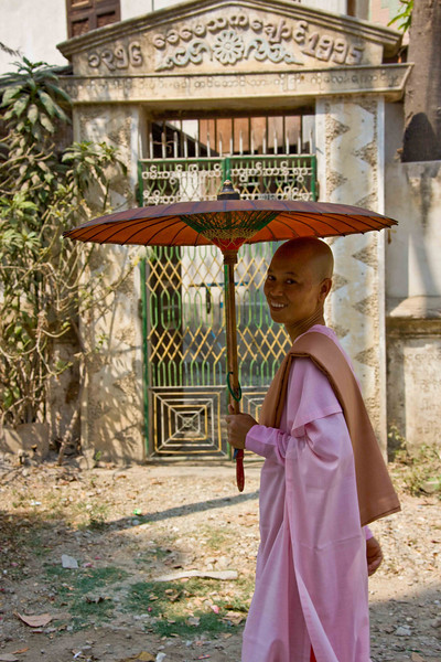 Nun near Sagaing Hill