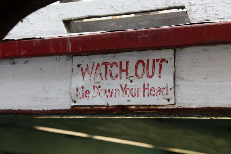 Sign on the Boat to Mingun