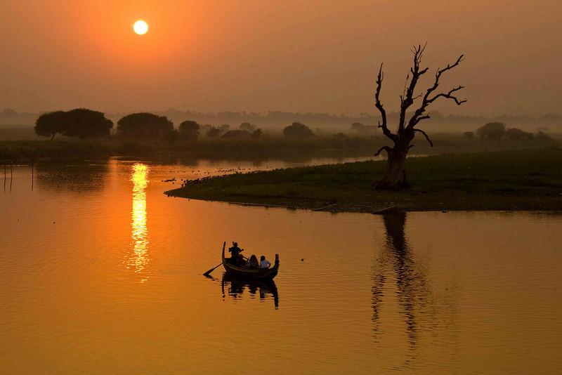 Sundown from U Bein's Bridge Mandalay