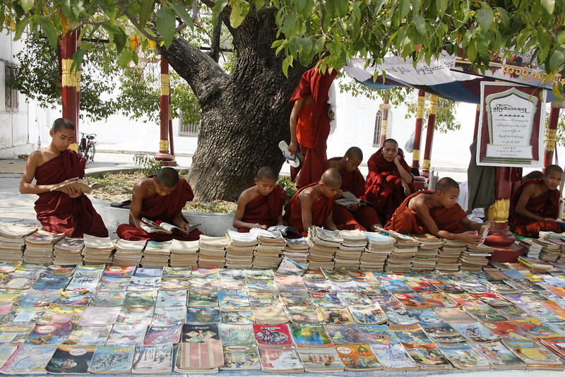 Monks with Books for Study