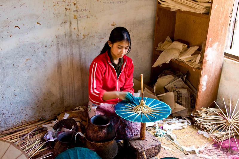 Umbrella Making in Pindaya