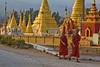 Walking Past Shwe U Min Paya in Pindaya
