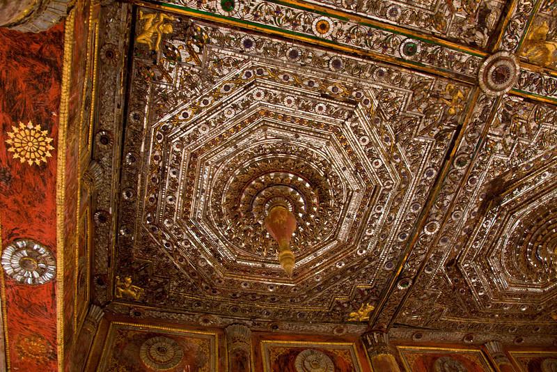 Ancient Ceiling in Shwe U Min Paya in Pindaya