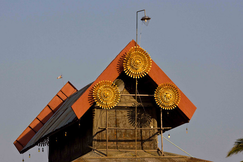 Rooftop of an Inle Lake Monastery