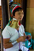 Ring-Necked Lady in a Village in Southern Inle Lake