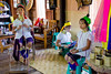 Family of Ring-Necked Women in a Village in Southern Inle Lake