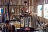Bellows Operator at Inle Lake Blacksmith Shop