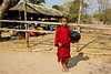 Monk at Morning Market in Salay