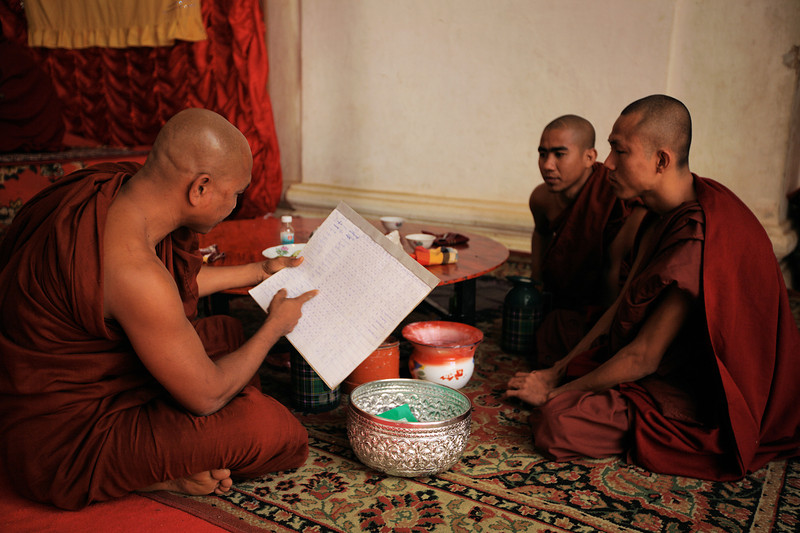 Monks plan their activities.