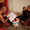 Monks plan their activities.