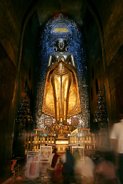One of four standing Buddhas in the temple.