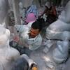 Polishing the marble.