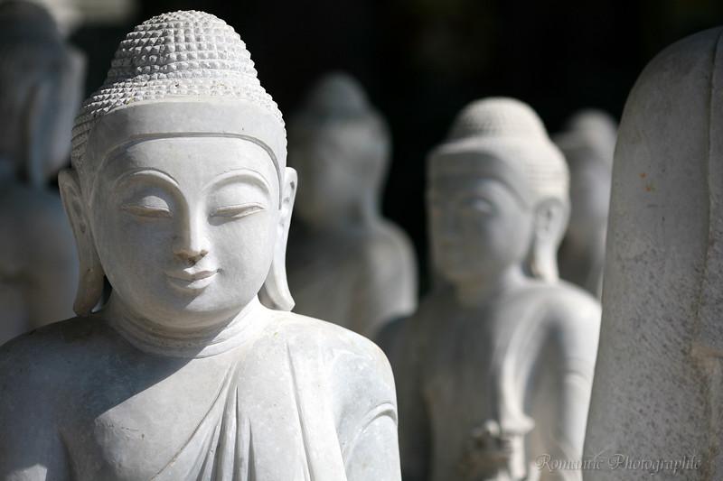 Marble statuary meditates on its future.