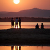Sunset on the Irrawaddy river.