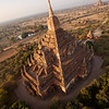 One of the more unique views of a Bagan temple.