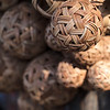 Rattan balls serve as footballs and volleyballs.
