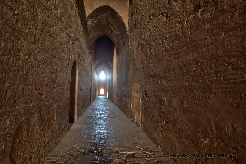 The mysterious interior of one of the great temples.