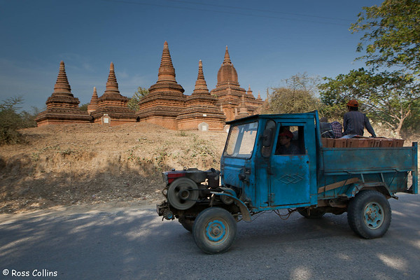 A Chinese truck carrying bricks in New Bagan, Myanmar, 1 February 2013