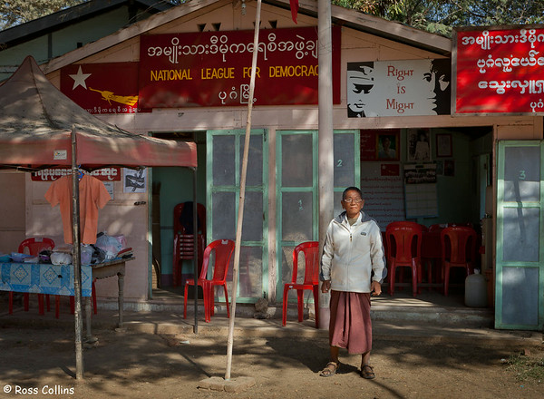 The Bagan office of the National League for Democracy, Myanmar, 30 January 2014