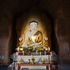 Inside every temple, there is at least one Buddha statue, usually decorated by villagers.