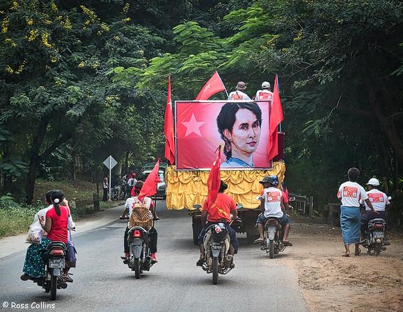 NLD Parade near Pyay