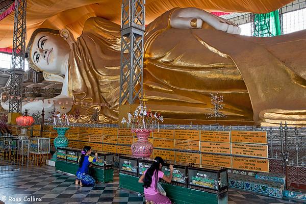 Shwe Tha Lyaung Reclining Buddha, Bago, Myanmar, 31 January 2014