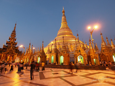 Shwedagon Pagoda Twilight Glow