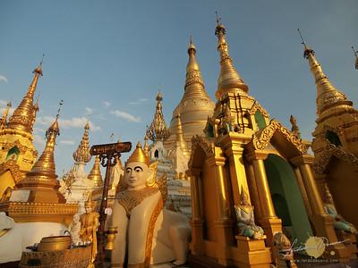 Shwedagon Pagoda Golden Stupas
