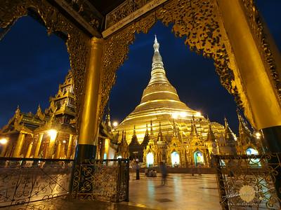 Shwedagon Pagoda Framed