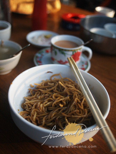 Noodle breakfast at Nyaung U