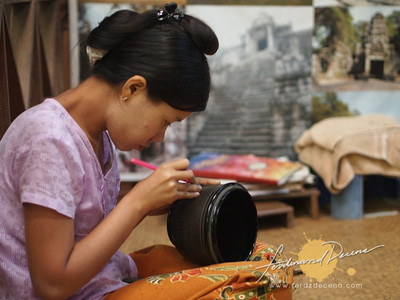 Maung Aung Myin, Lacquerware Workshop in Myinkaba