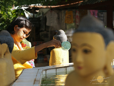 Myazedi Pagoda Bathing Buddha
