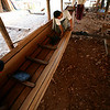 Building one of the long Inle power boats.