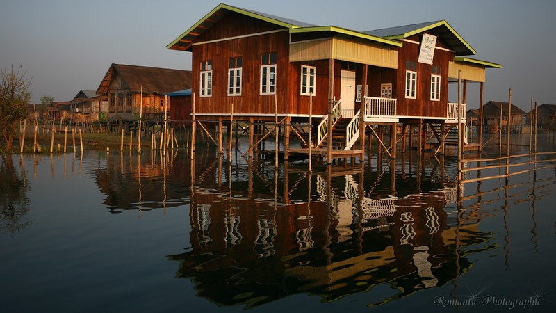 One of the solid wood houses on stilts.