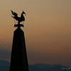 The golden duck, a symbol of Inle and of ancient Burma, stands atop a monument on the lake.