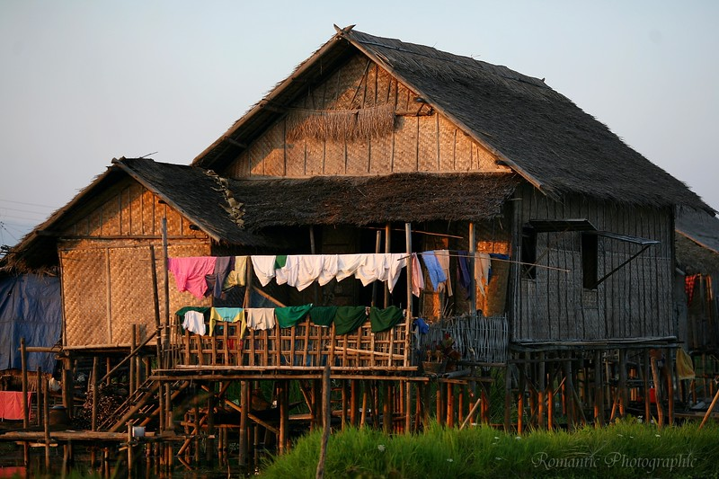 A typical Ywama village home.