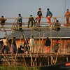 One morning, I discovered these men building a bamboo house on stilts.