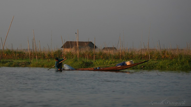 Paddling past the floating gardens.