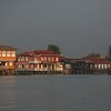 Main street on Inle Lake consists of shops and restaurants.
