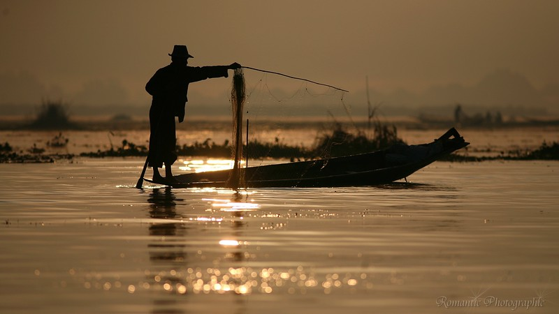 Fishing at dawn.