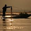 Fishing at dawn.
