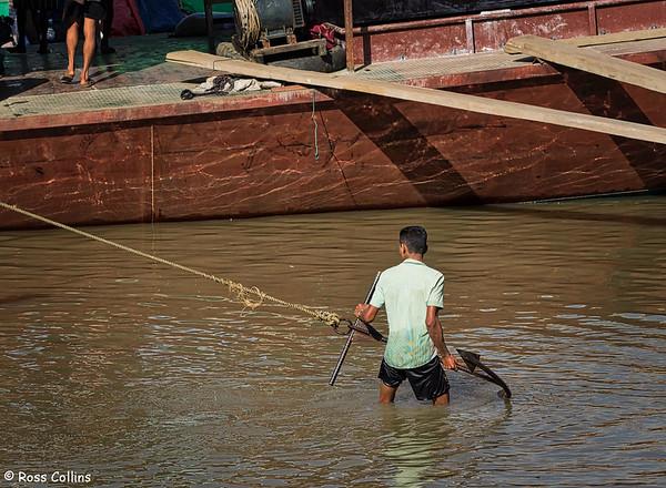 Ayeyarwady River frontage, Banmaw, Kachin State, Myanmar, 20 October 2015
