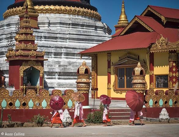 Shwe Kyina Pagoda, Banmaw, Myanmar, 20 October 2015