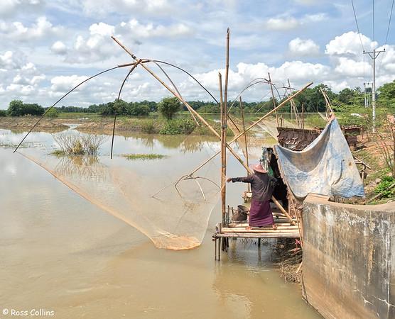 Fishing Around Hpa-An, Kayin State, 30 September 2015